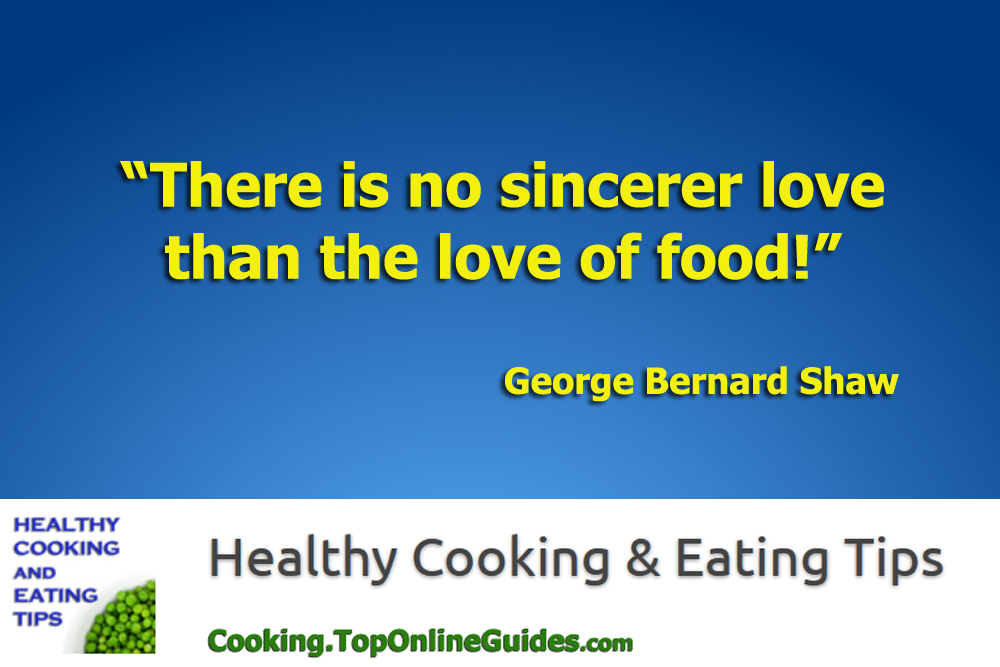 Healthy Cooking & Eating Quote #1